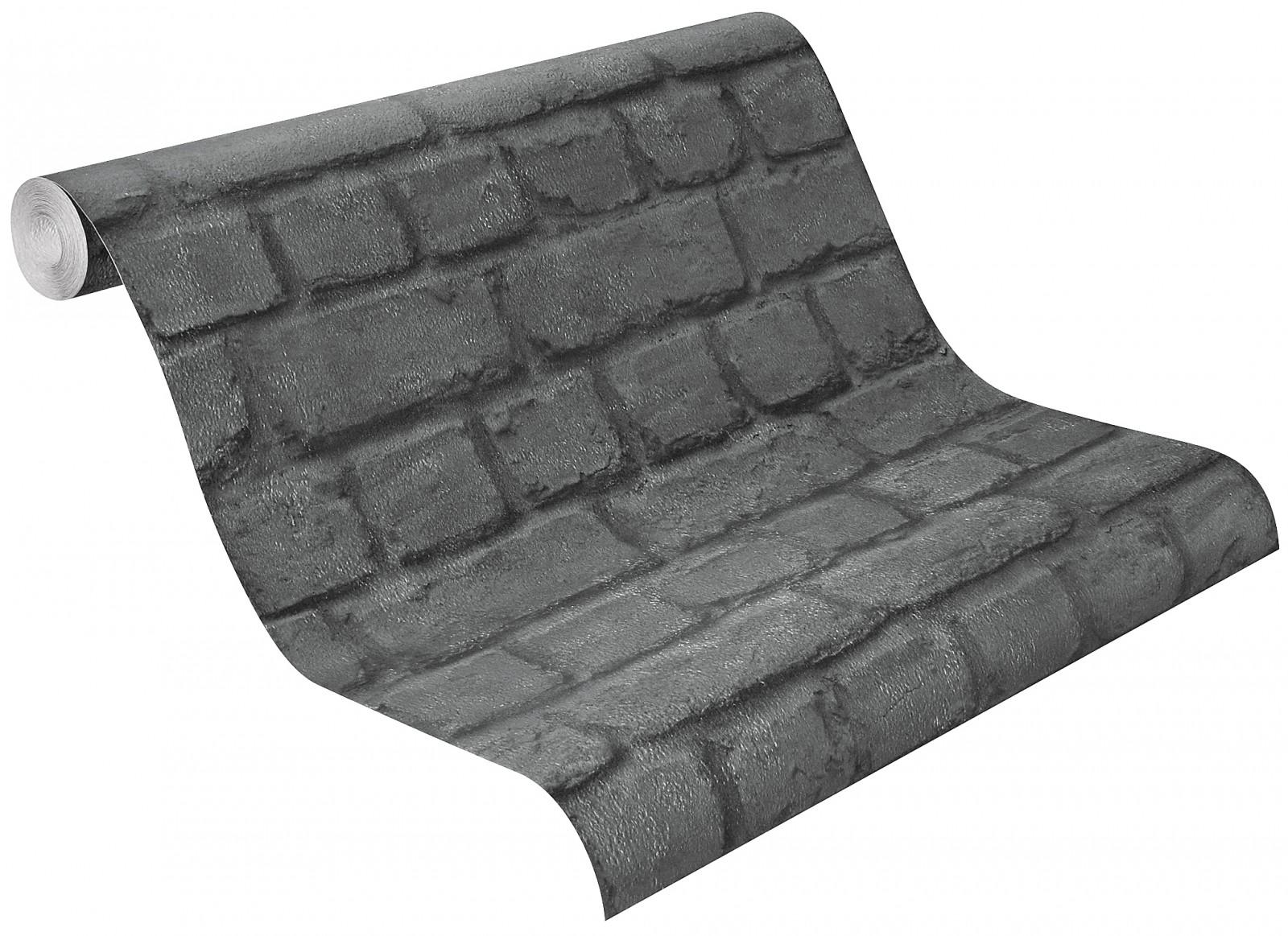 rasch tapete aqua relief steine anthrazit. Black Bedroom Furniture Sets. Home Design Ideas