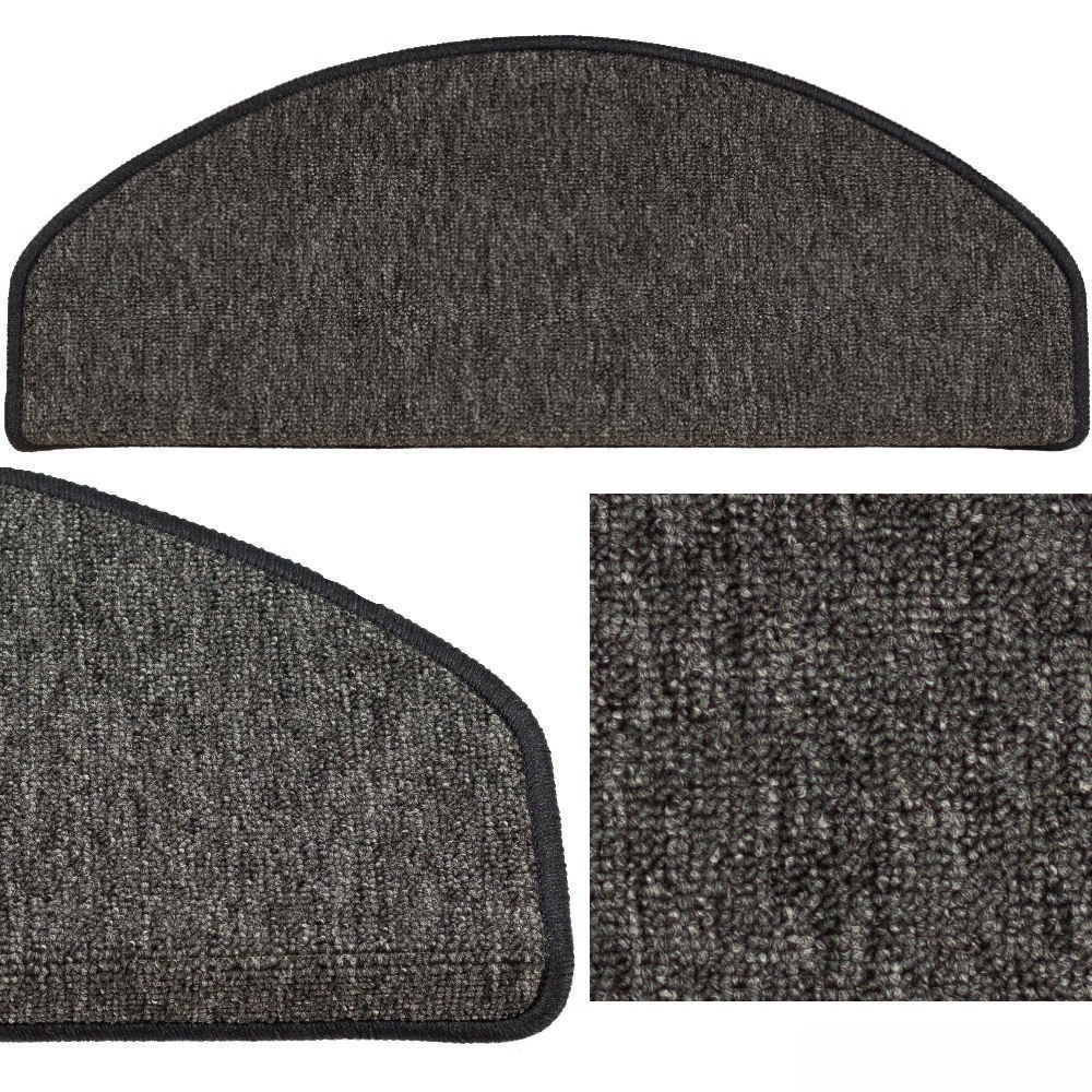 set of 15 stair mats sling black 24 cm x 65 cm 39 39 x. Black Bedroom Furniture Sets. Home Design Ideas
