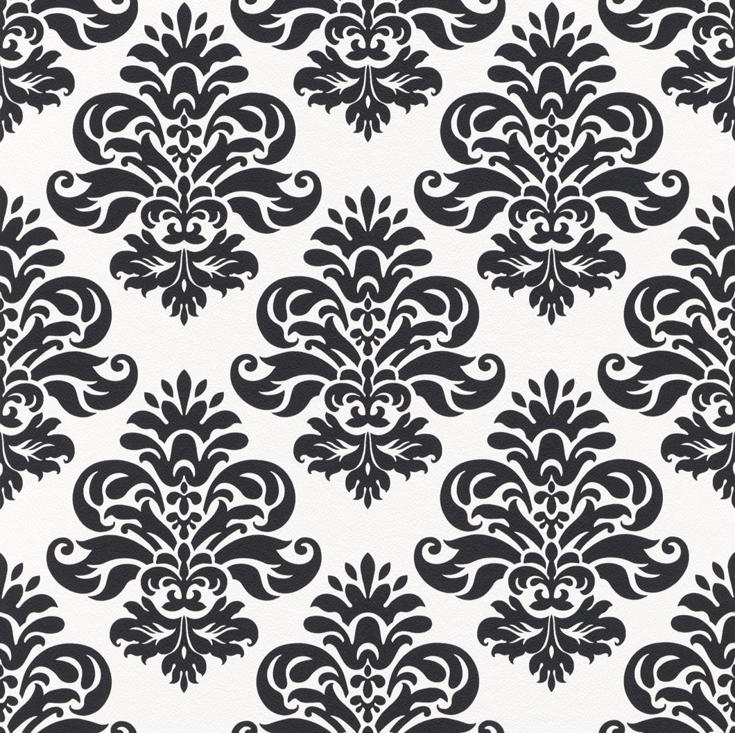 retro barock lounge wallpaper rasch 266917 black white 1 59 1qm ebay. Black Bedroom Furniture Sets. Home Design Ideas
