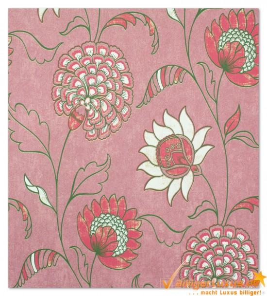 Scandinavian Vintage Tapete Marburg : Vliestapete Scandinavian Vintage Marburg 51658 rosa