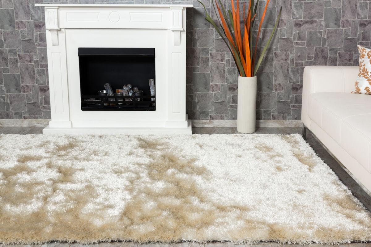 sch ner wohnen teppich touch luxus shaggy hochflor 140x200cm creme ebay. Black Bedroom Furniture Sets. Home Design Ideas