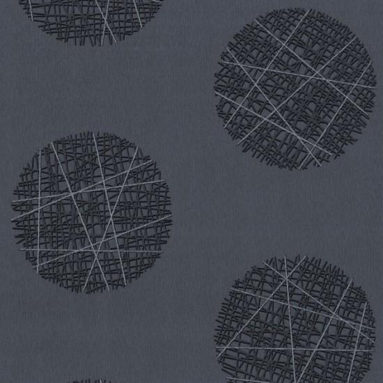 Barbara Becker Tapeten Grau : Belcanto Tapeten P+S Vlies 13502-50 Retro Kreise grau schwarz