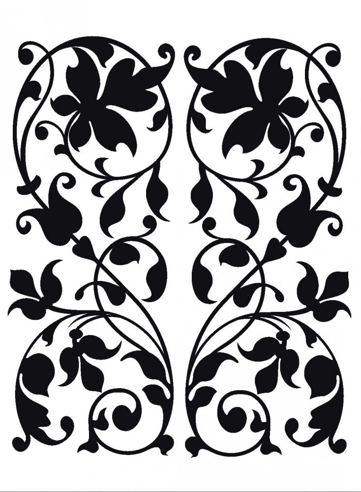 flock wandtattoo wandsticker tattoo wanddeko bl tter. Black Bedroom Furniture Sets. Home Design Ideas