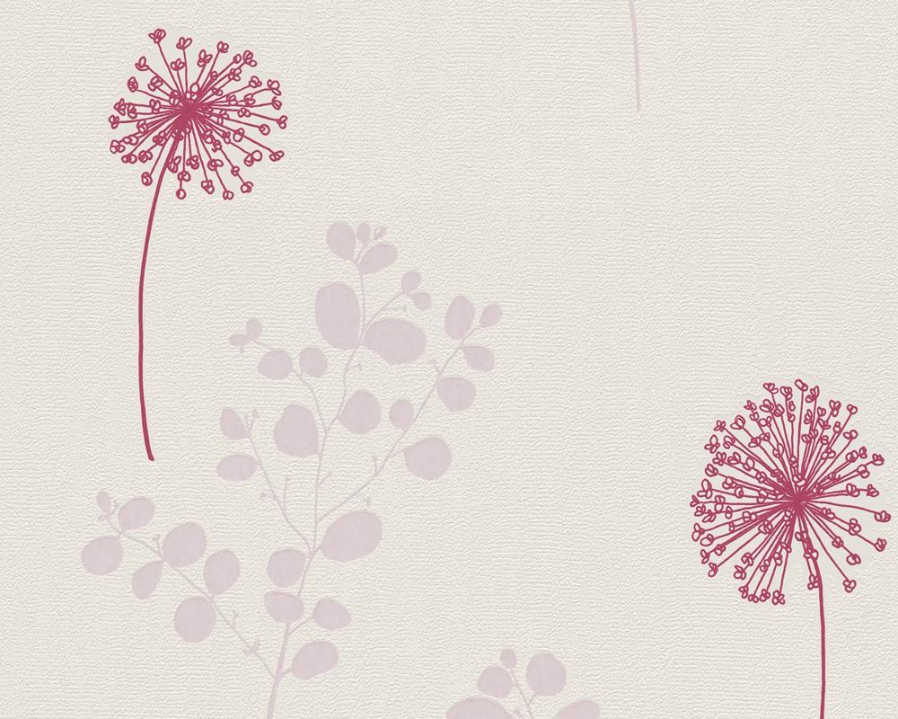 Muster Tapete Blumen Lila : Pink Flowers