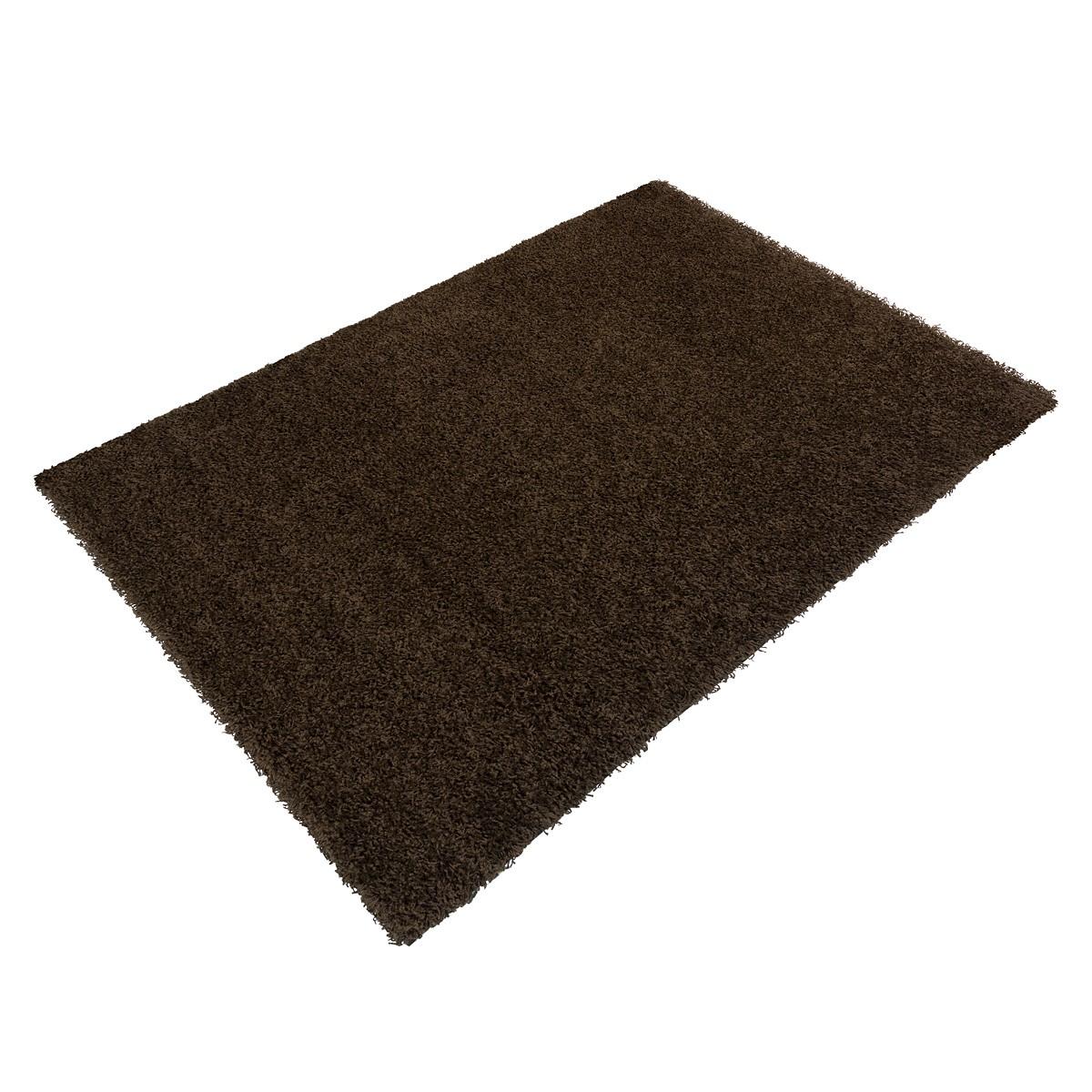 teppich braun uni shaggy fancy hochflor eckig rund in vers. Black Bedroom Furniture Sets. Home Design Ideas