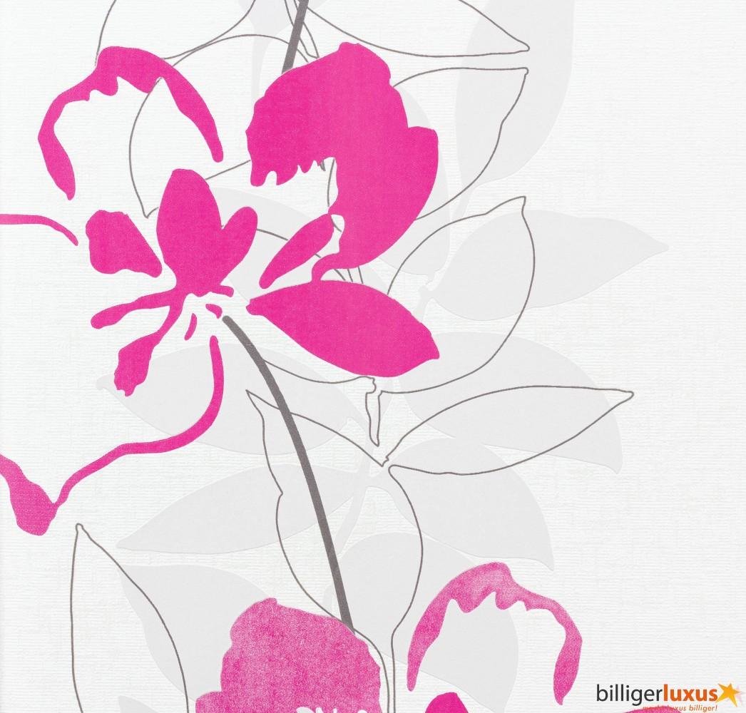 Marburger Tapeten Zuhause Wohnen : Marburg Tapeten ZUHAUSE WOHNEN 2 Vliestapete 53030 Blumen pink wei?