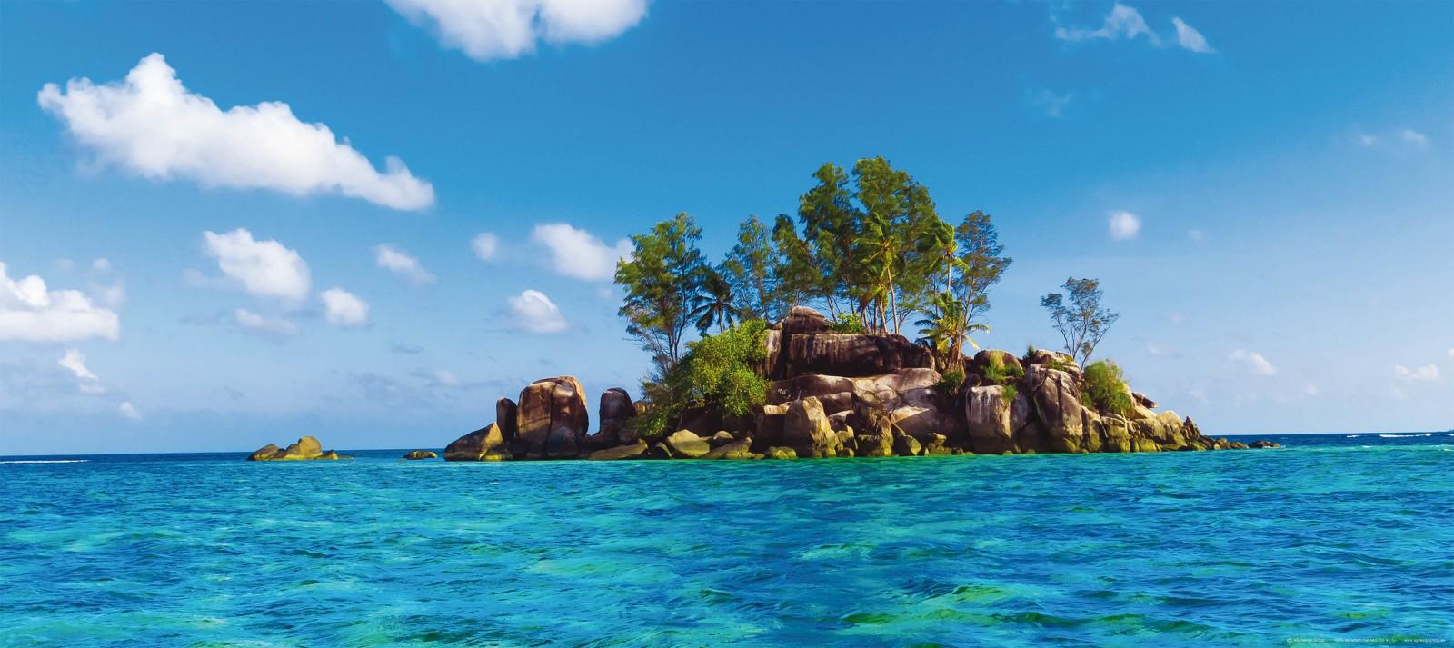 Fototapete Tapete Insel Meer Paradies Blau Foto 90 X 202 Cm