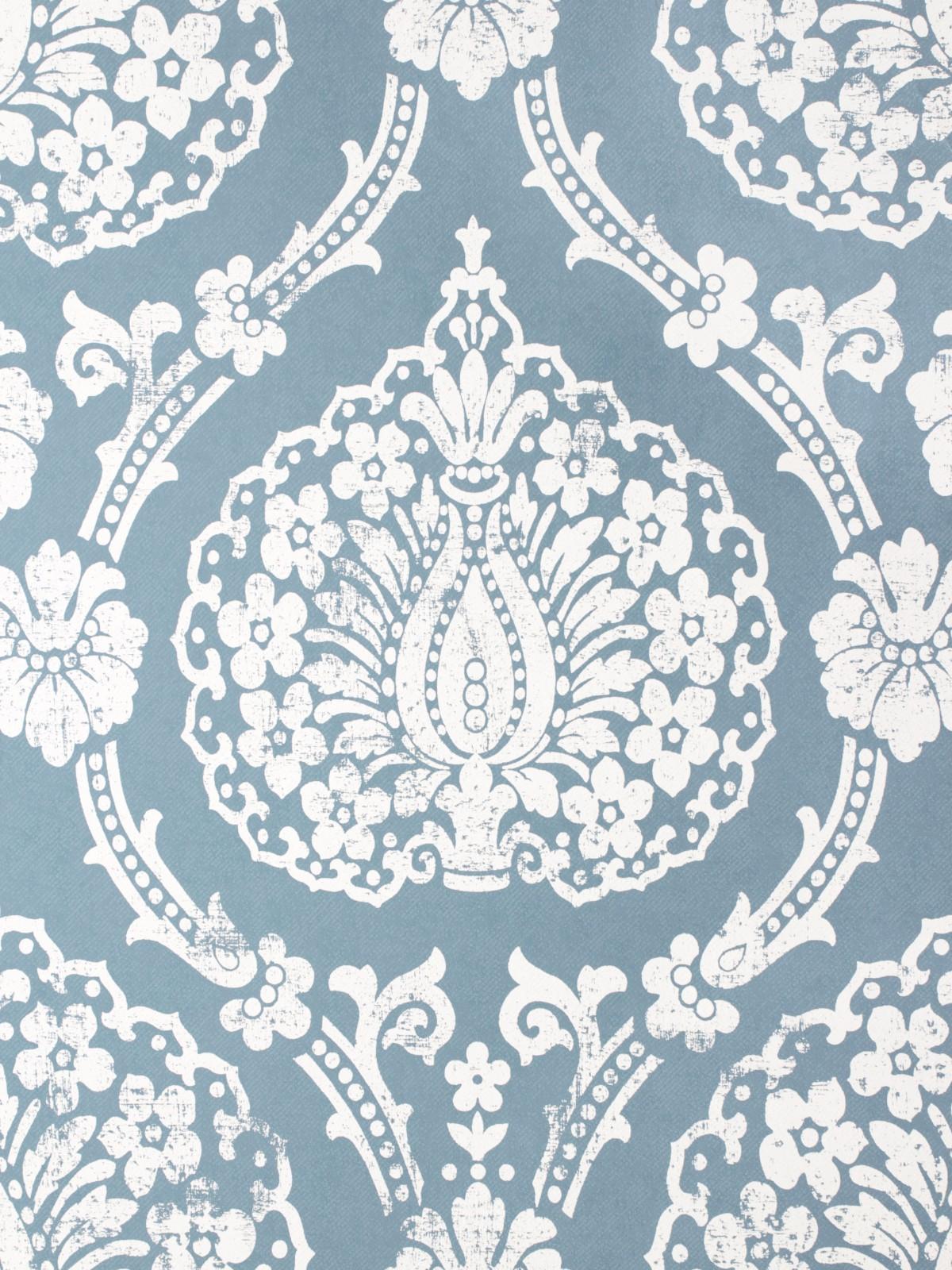 vliestapete scandinavian vintage marburg 51652 blau. Black Bedroom Furniture Sets. Home Design Ideas