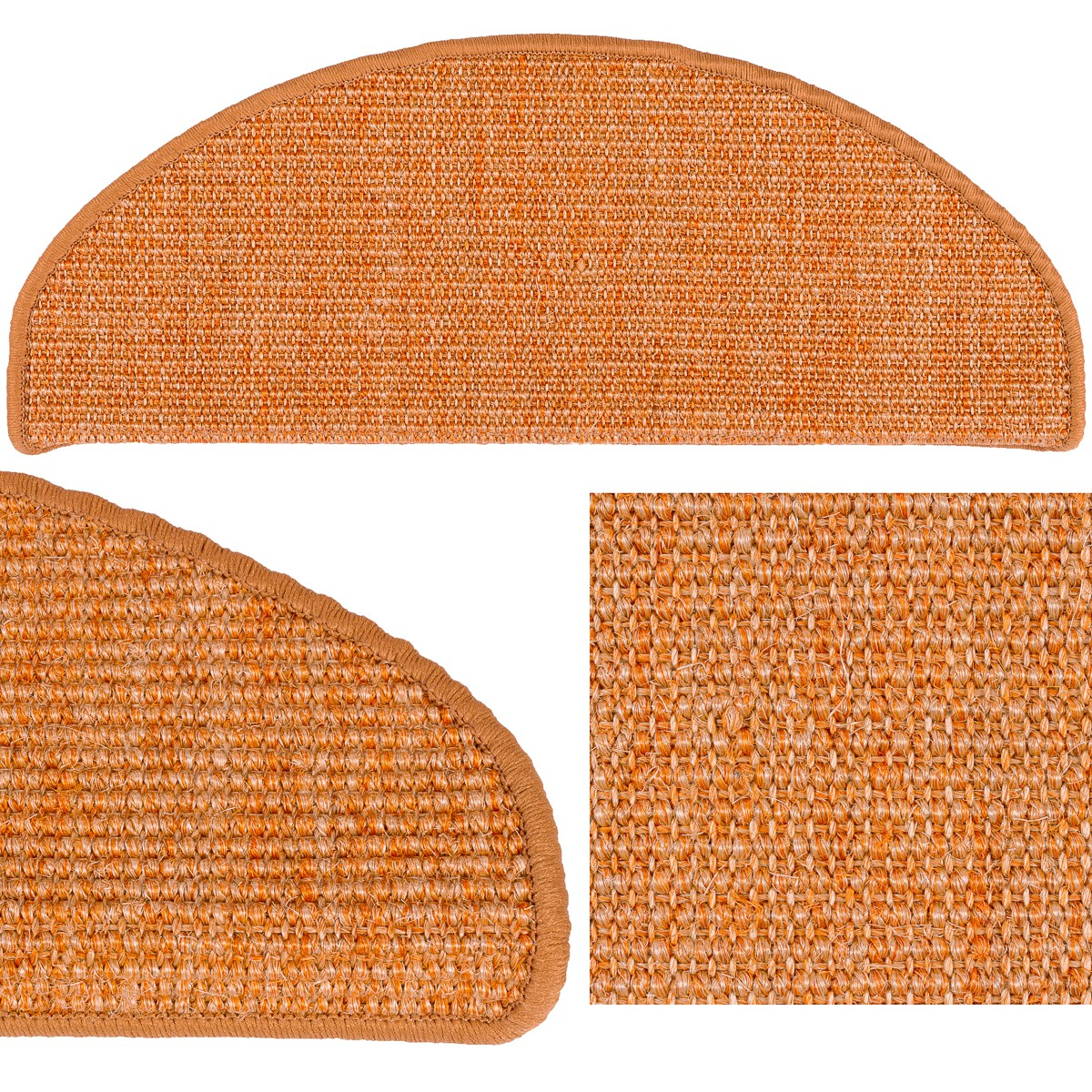 Stufenmatten sisal treppenstufen sisal treppe 18x56 cm in for Sisal treppe