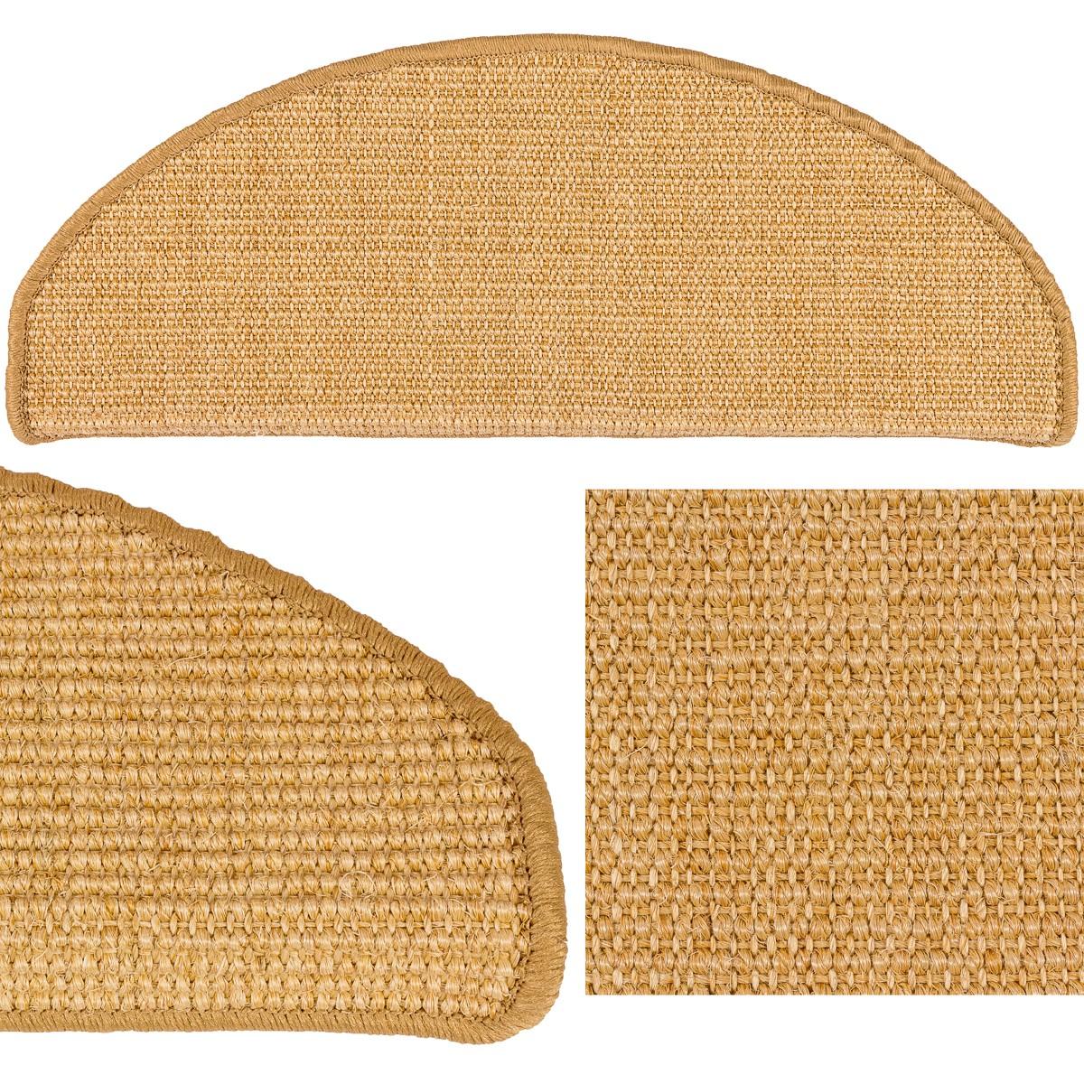 set 15 stufenmatten sisal treppenstufen sisal treppe in 2 gr en 13 farben. Black Bedroom Furniture Sets. Home Design Ideas