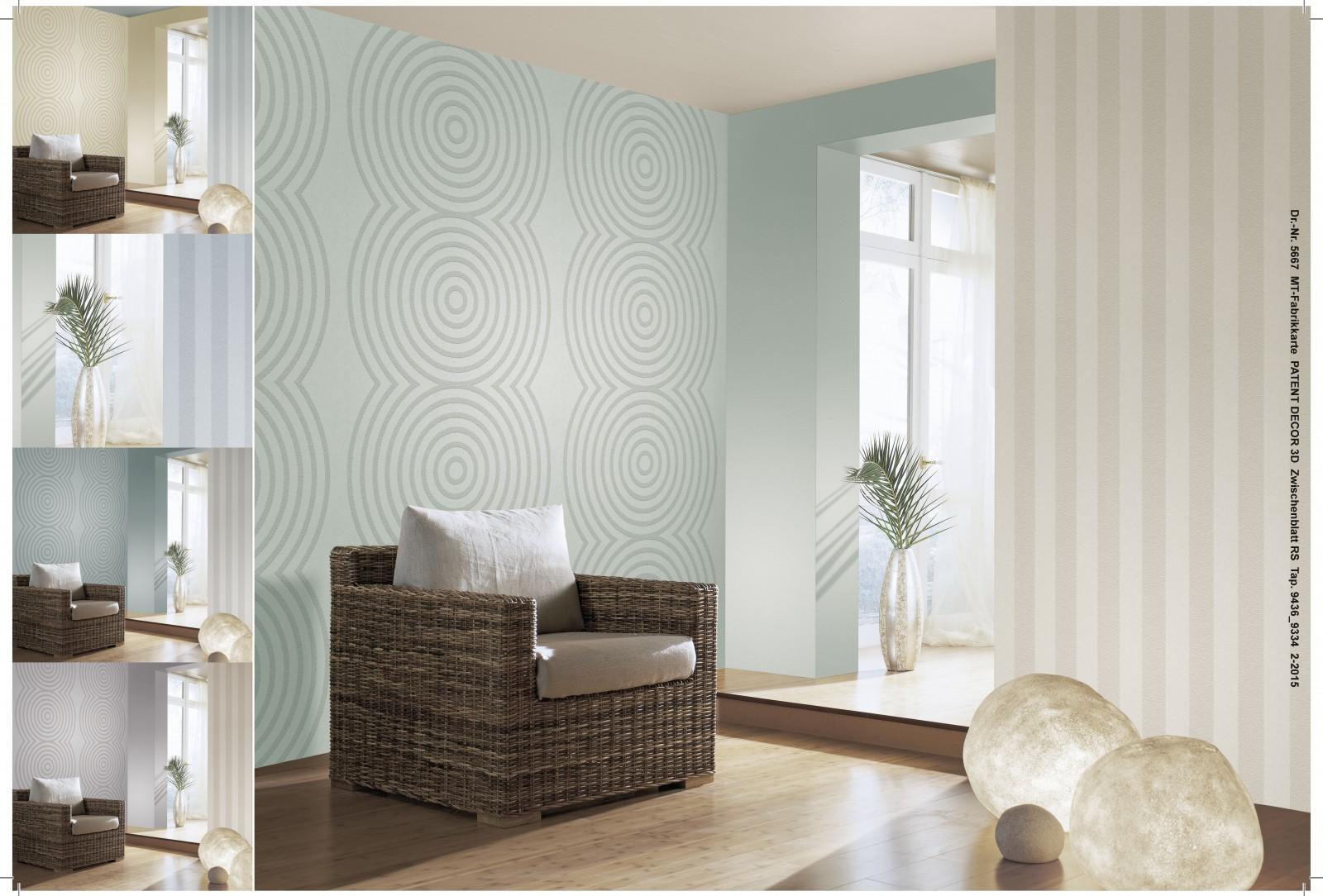 tapete vlies berstreichbar streifen wei patent decor 3d 9436. Black Bedroom Furniture Sets. Home Design Ideas