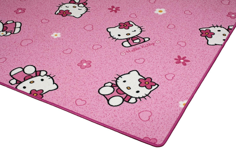 sanrio hello kitty teppich kinderteppich spielteppich neu rosa. Black Bedroom Furniture Sets. Home Design Ideas