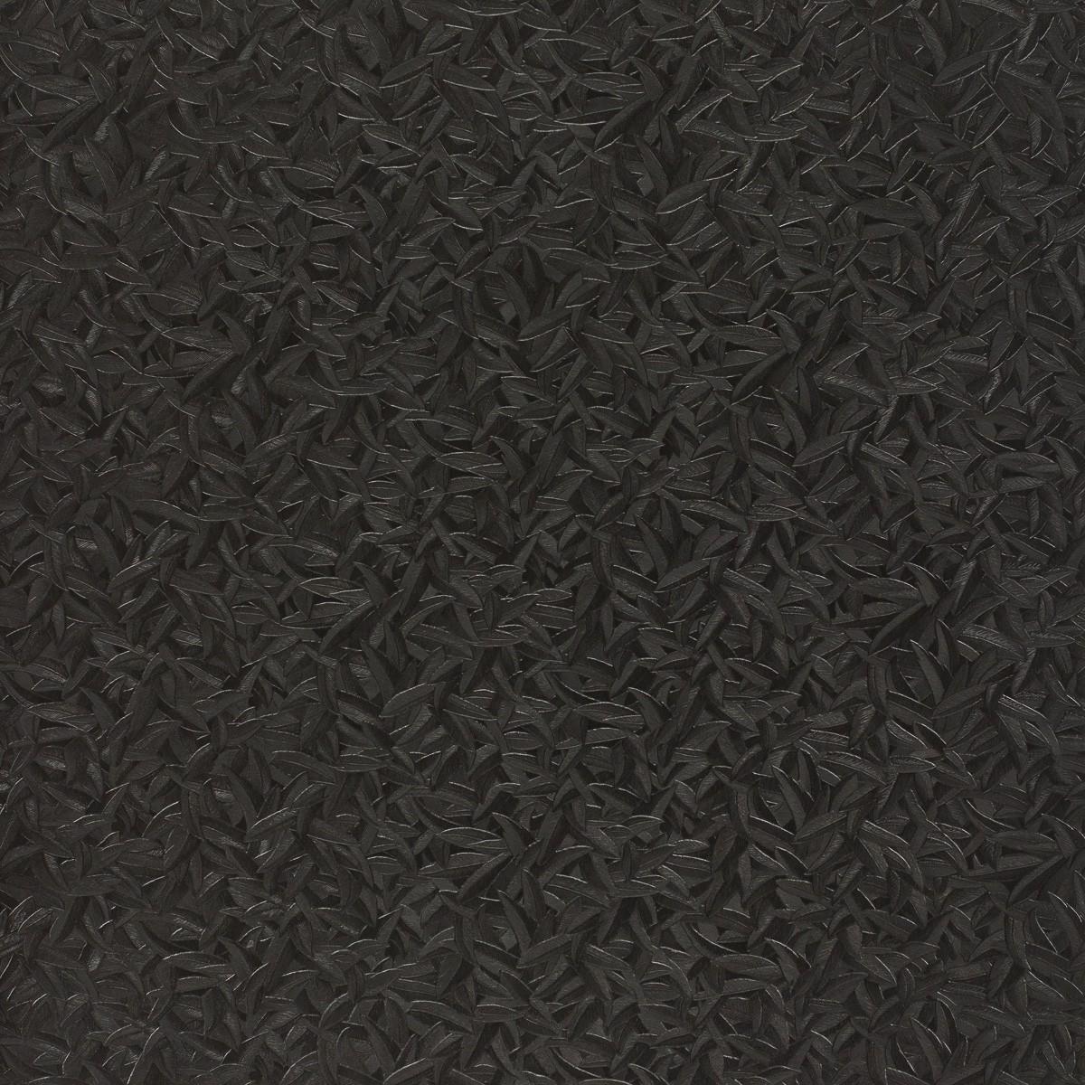 harald gl ckler tapeten schwarz bl tter federn 52507 designer tapete. Black Bedroom Furniture Sets. Home Design Ideas