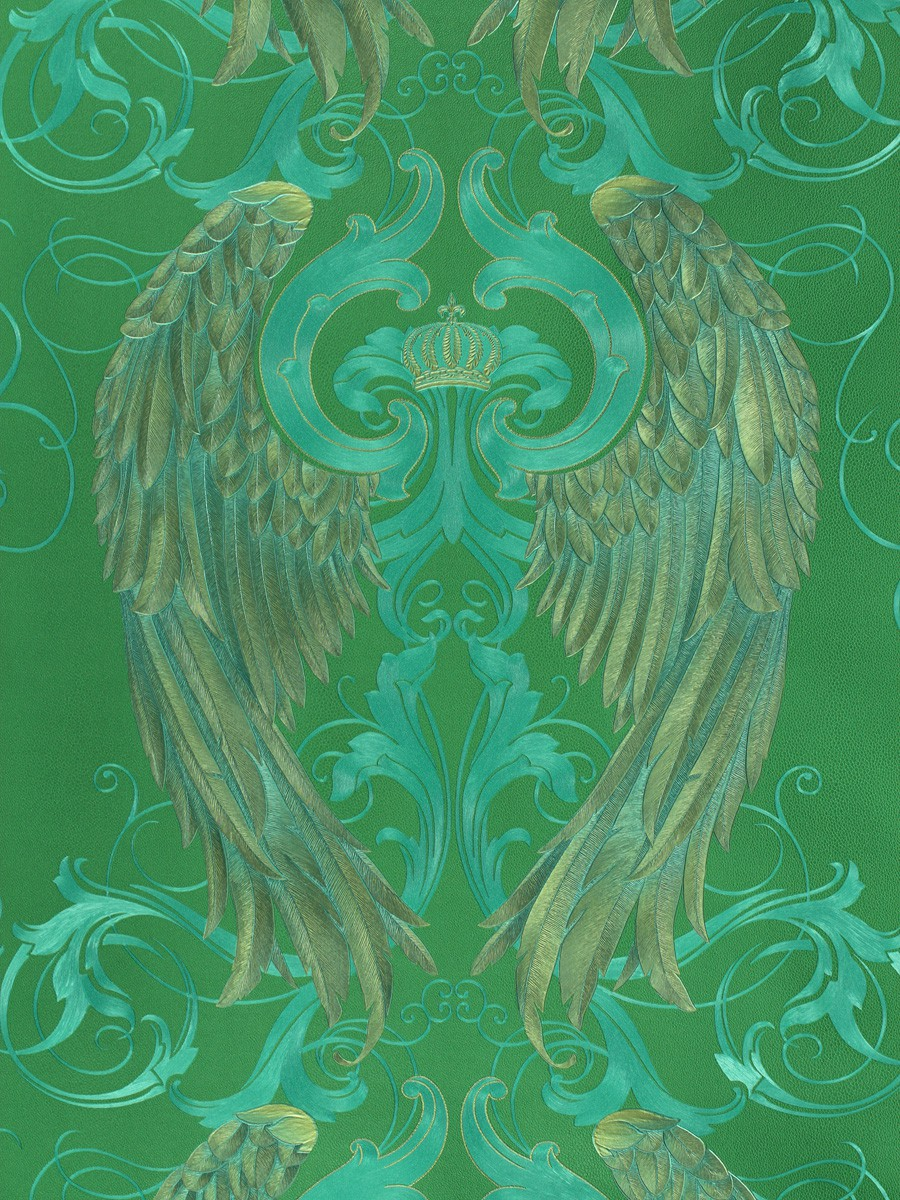 Green and Gold Angel Wing Background