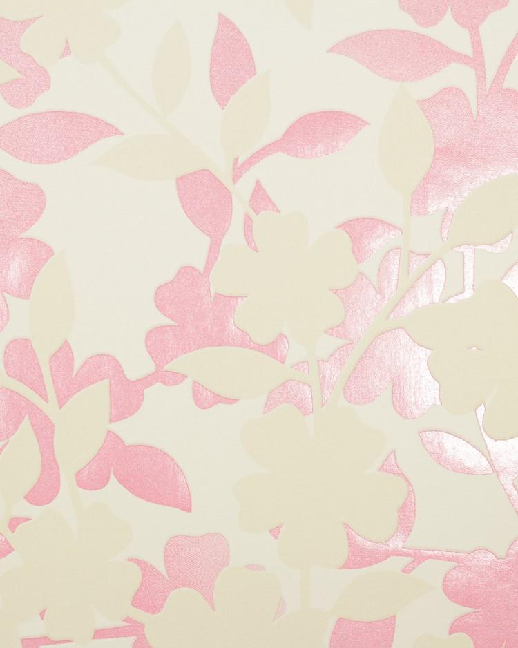 Rasch flower poetry non woven wallpaper 451016 flowers for Cream rose wallpaper