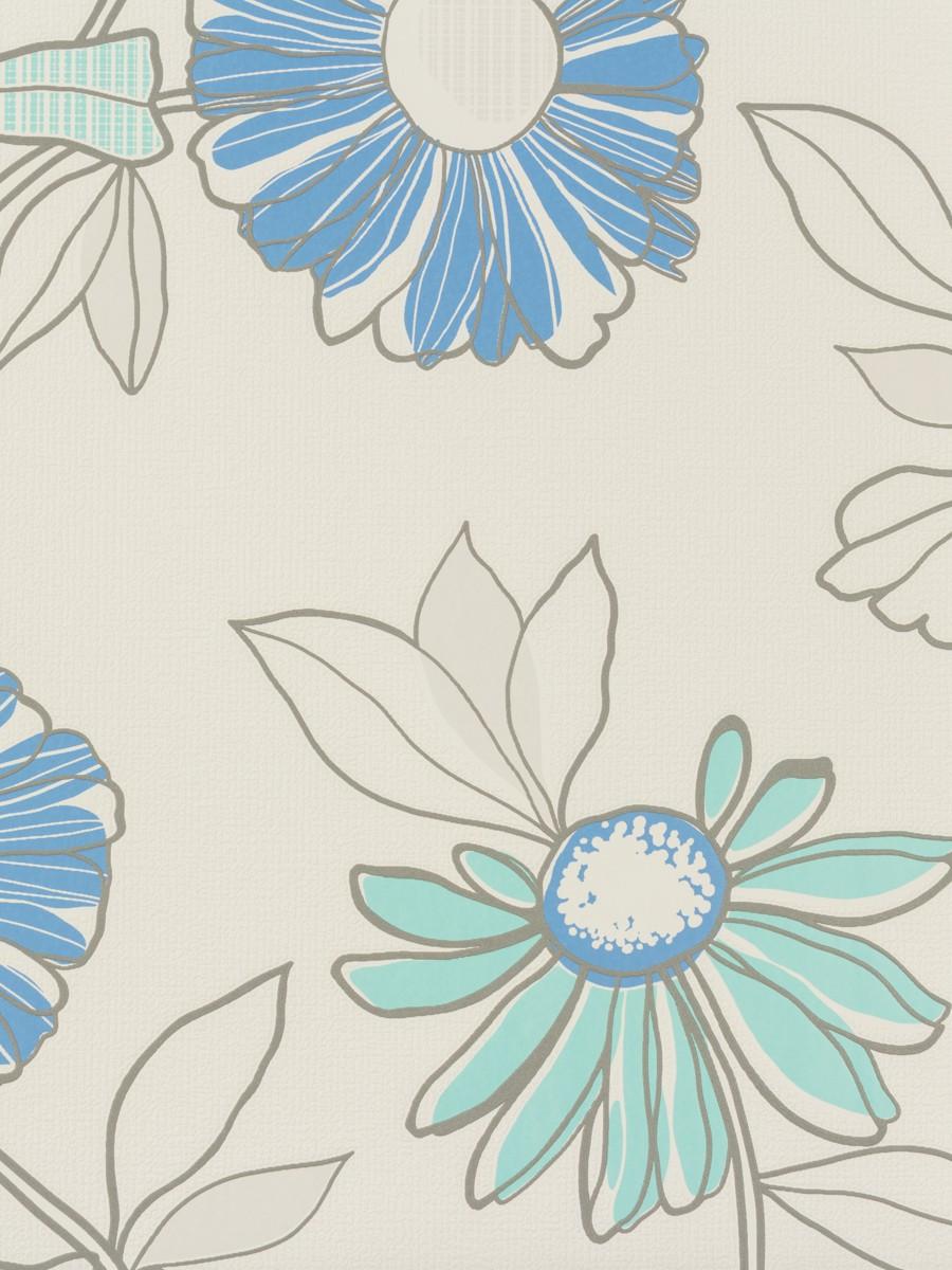 tapete rasch blumen wei blau fresh up 497465. Black Bedroom Furniture Sets. Home Design Ideas