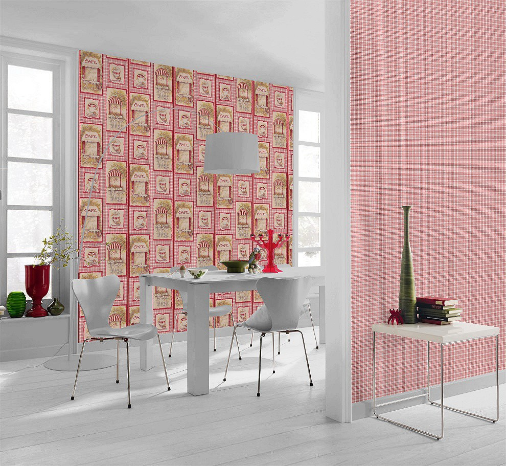 tapete beige rot k che aqua relief rasch 819403. Black Bedroom Furniture Sets. Home Design Ideas