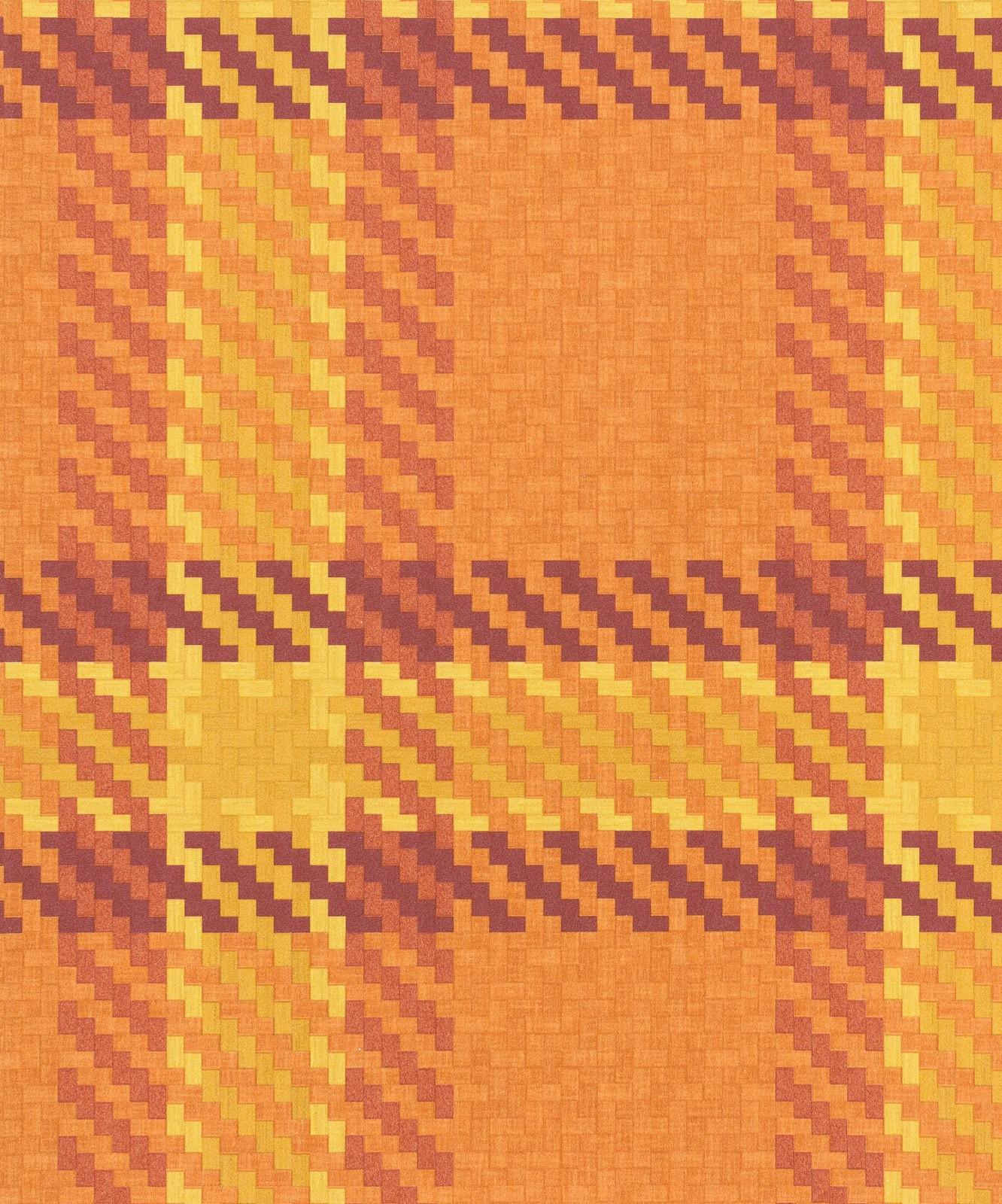 tapete rasch funky flair 721669 kariert orange gelb. Black Bedroom Furniture Sets. Home Design Ideas