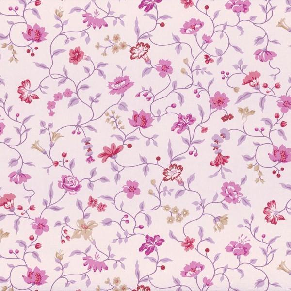 Tapete rasch textil blumen lila vintage diary 255194 for Tapete blumenmuster