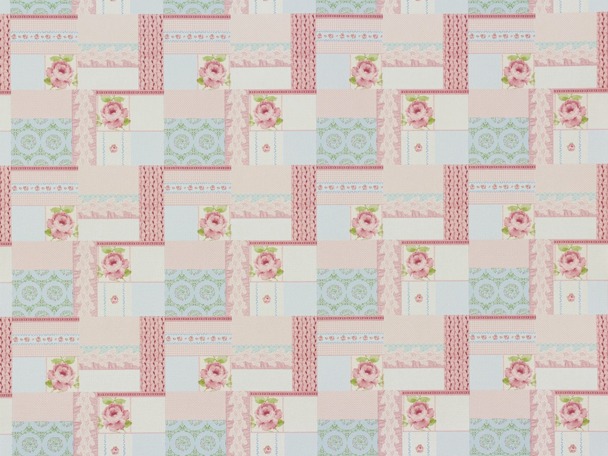 Tapete Patchwork Vintage : Tapete Rasch Textil Patchwork rosa Vintage Diary 255170