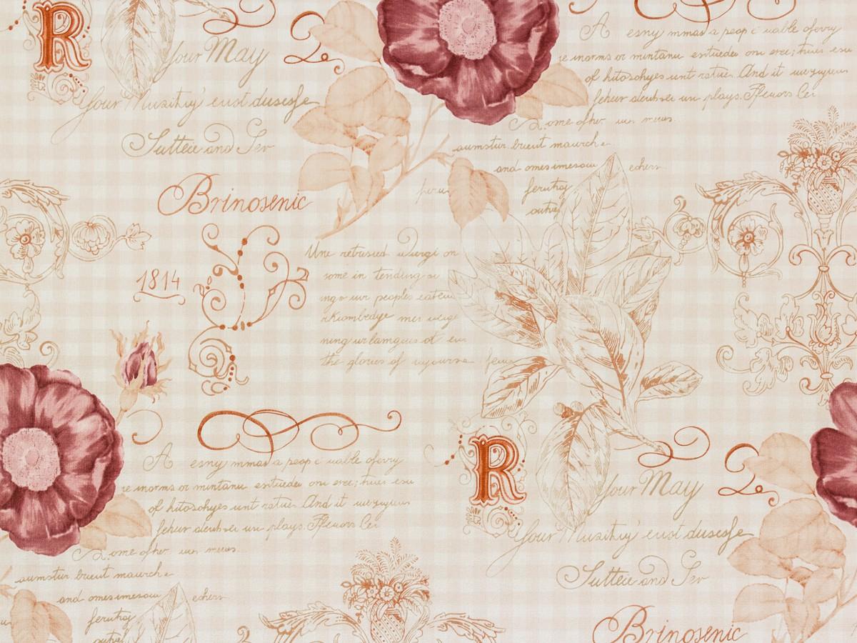 Dieter Bohlen Tapete Glitter : Rasch Textil VINTAGE DIARY wallpaper 255088 roses white brown