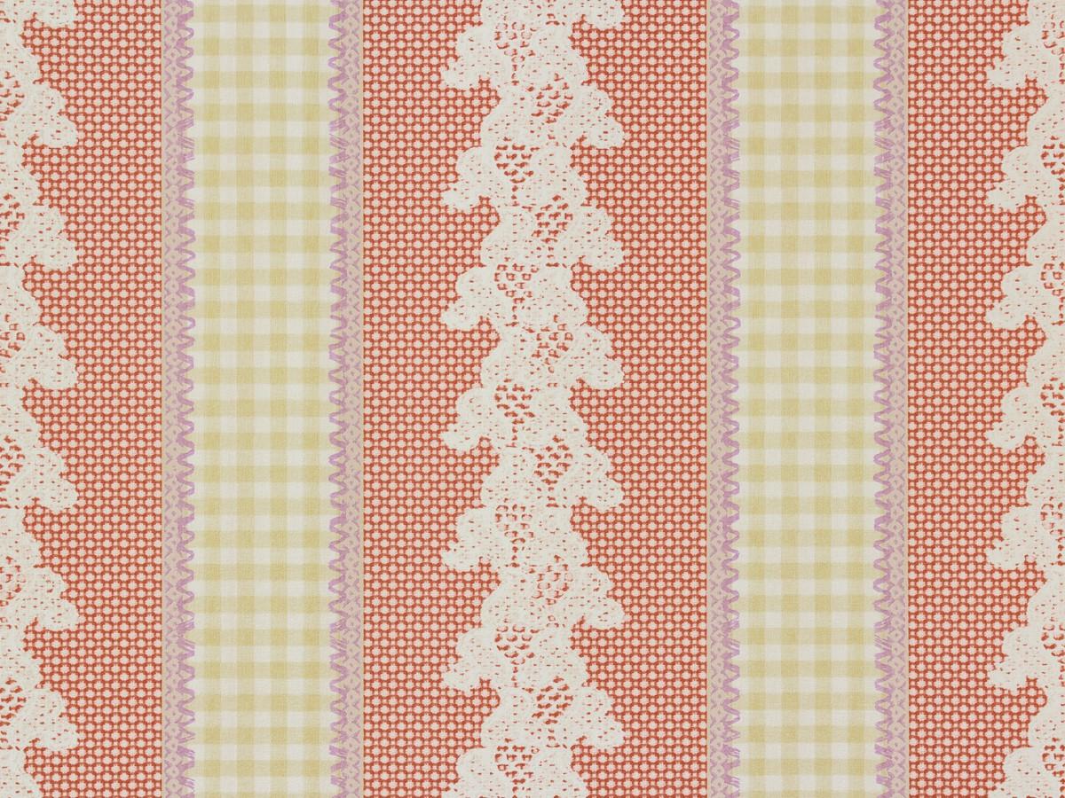 Tapete rasch textil streifen rot vintage diary 255026 - Tapete textil ...