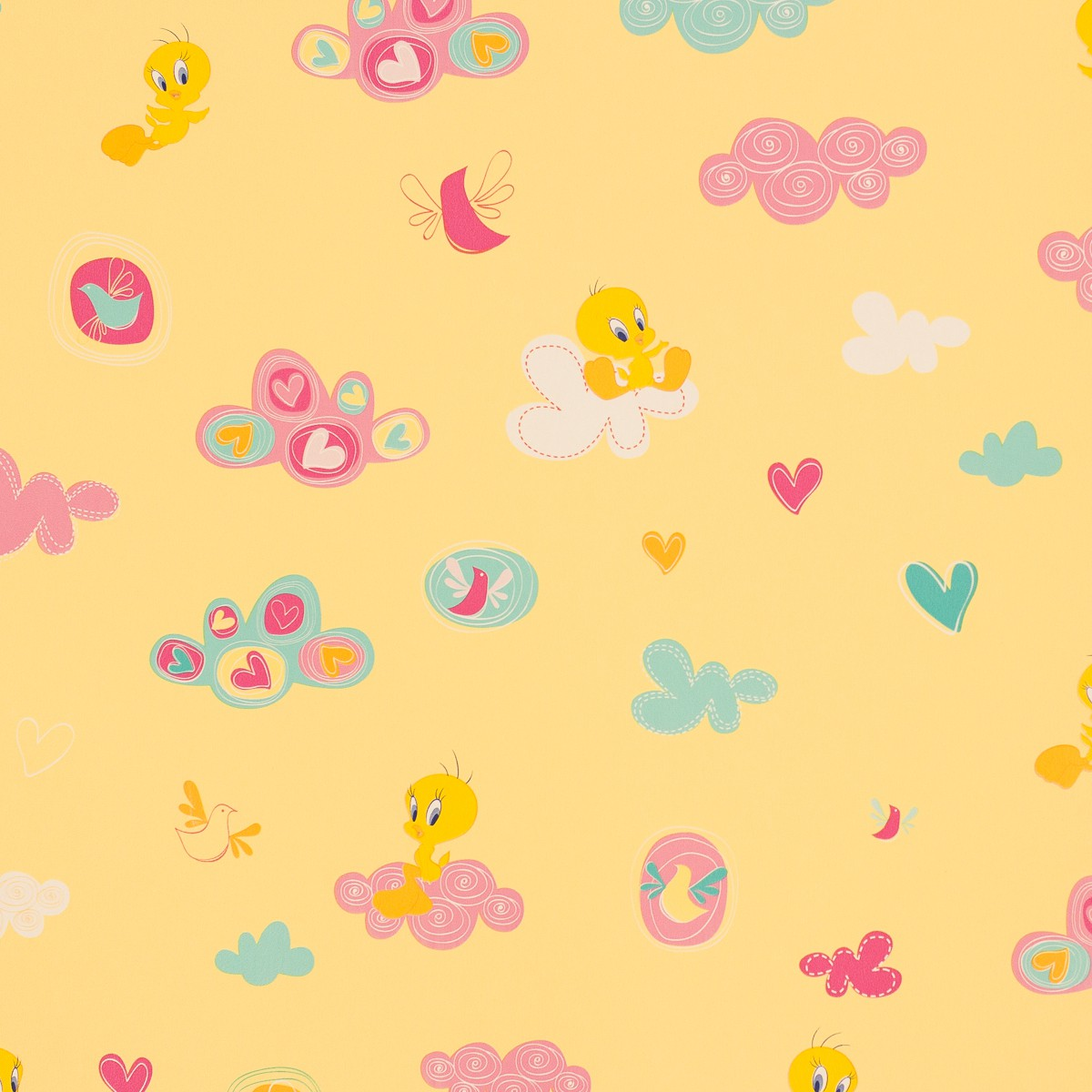 The gallery for yellow baby wallpaper pattern for Tapete gelb