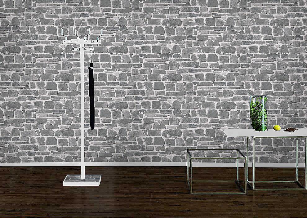 tapete rasch 265620 steintapete grau. Black Bedroom Furniture Sets. Home Design Ideas