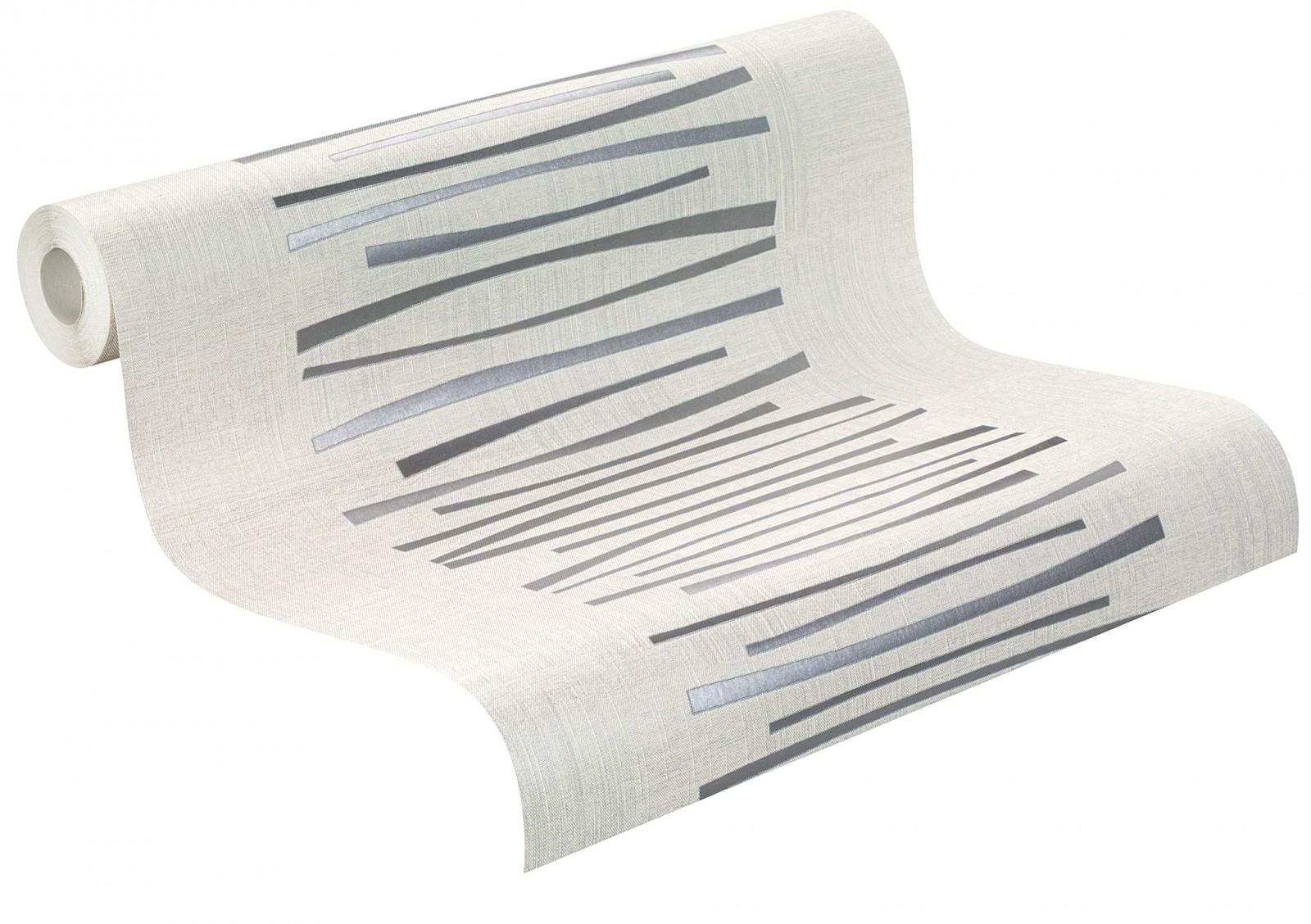 Jette Joop Tapete Streifen : Wallpaper Rasch City Lights non-woven wallpaper 414424 stripes modern