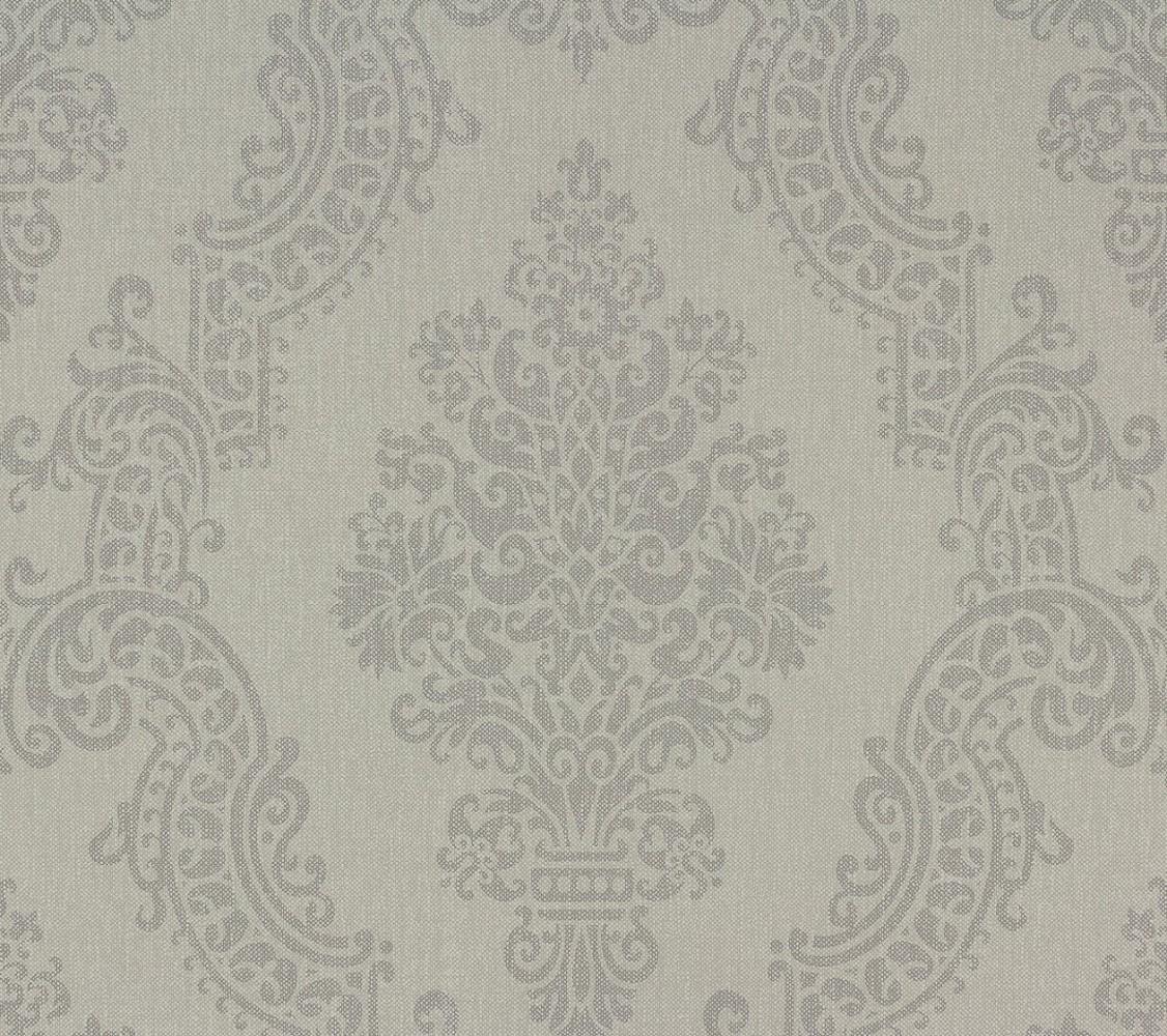 vliestapete barock grau elegance as creation 93677 3 ForTapete Petrol Muster