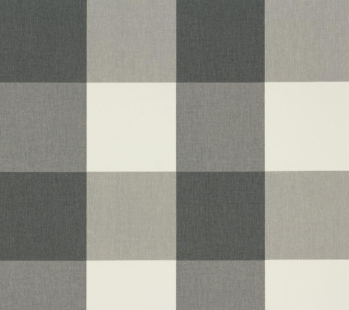 vliestapete kariert grau wei as creation 2063 67. Black Bedroom Furniture Sets. Home Design Ideas