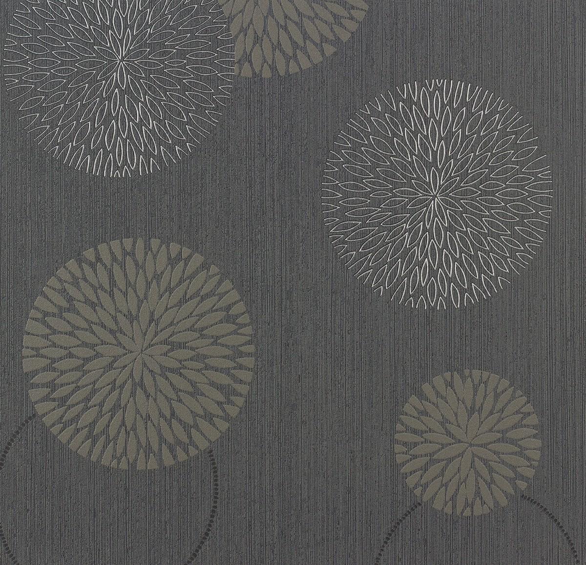 tapete blumen as creation spot grau taupe 93791 1. Black Bedroom Furniture Sets. Home Design Ideas