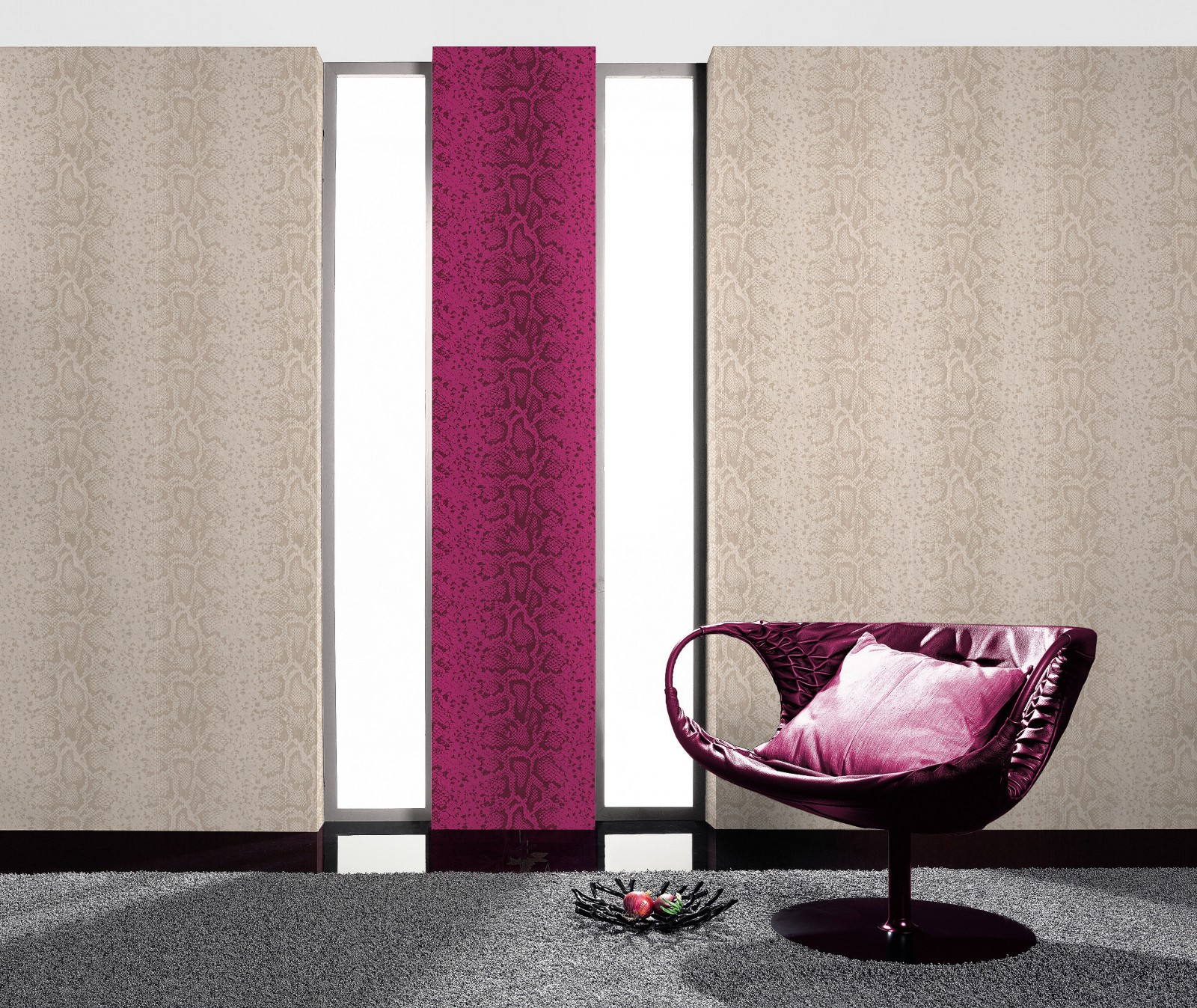 tapete rasch bestseller schlangenhaut optik tapete 281002 pink lila glitzer. Black Bedroom Furniture Sets. Home Design Ideas