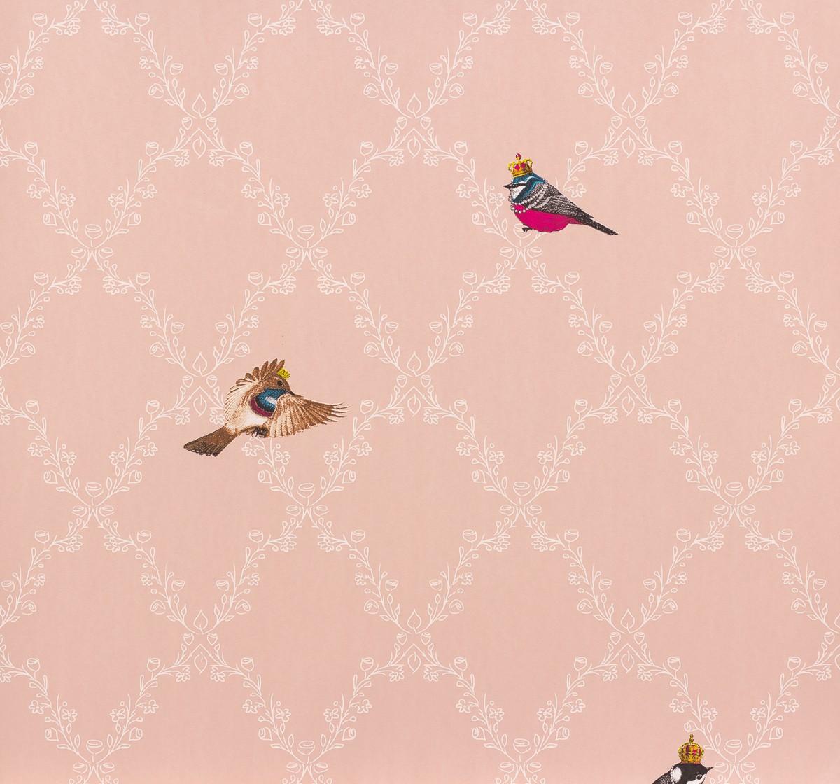 gl ckler kindertapete vlies childrens paradise 54112 v gel rosa wei. Black Bedroom Furniture Sets. Home Design Ideas