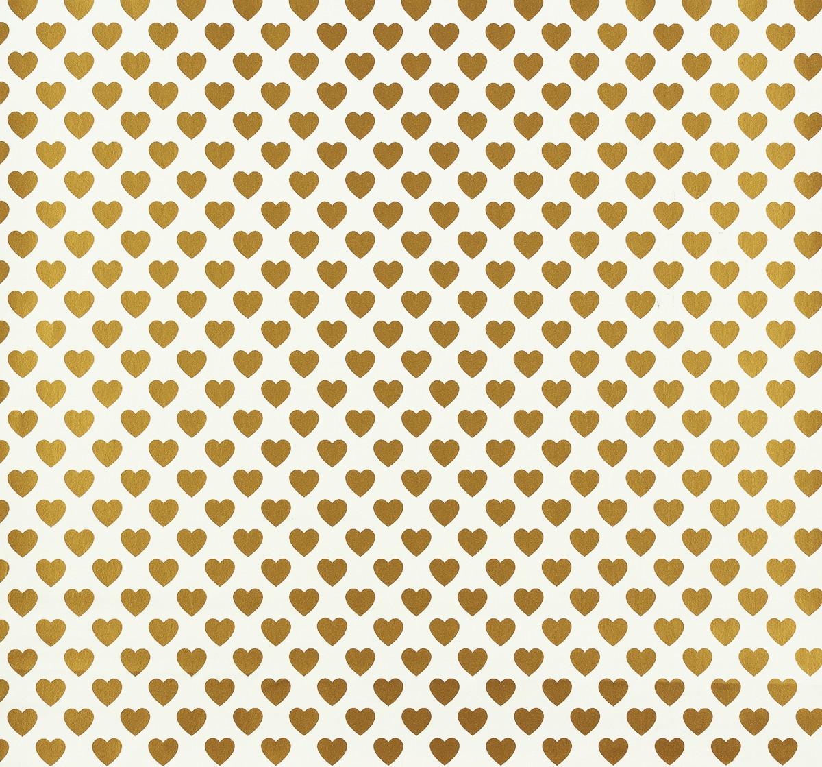 kindertapete gl ckler herzen wei gold 54152. Black Bedroom Furniture Sets. Home Design Ideas