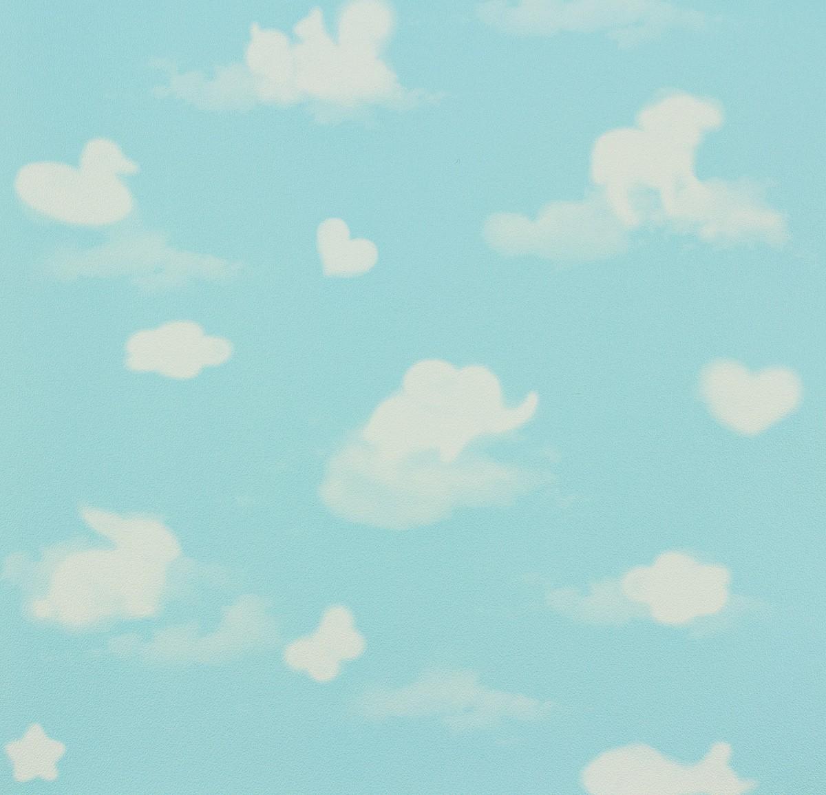 kindertapete blau wei wolken happy kids ps 05572 10. Black Bedroom Furniture Sets. Home Design Ideas