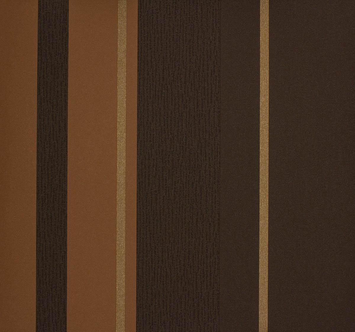 rasch tapete gentle elegance 725162 streifen braun kupfer gold. Black Bedroom Furniture Sets. Home Design Ideas