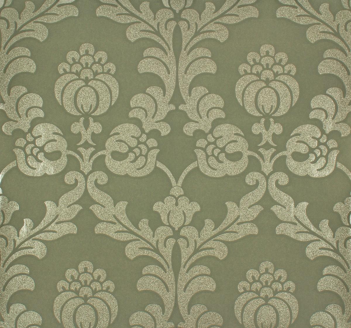 rasch tapete gentle elegance 725889 floral gruen gold metallic. Black Bedroom Furniture Sets. Home Design Ideas
