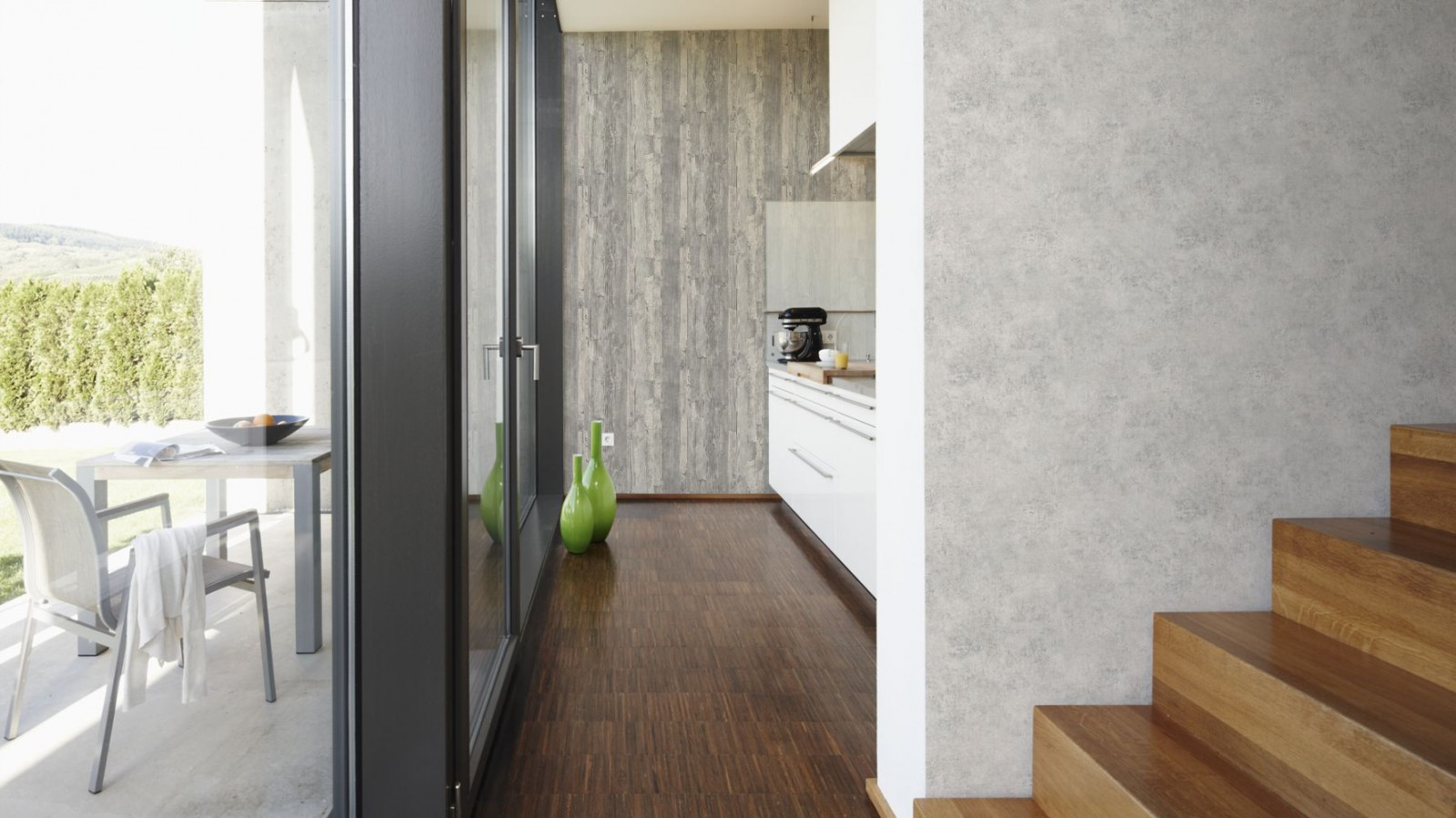 tapete as creation stein struktur grau 95406 4. Black Bedroom Furniture Sets. Home Design Ideas
