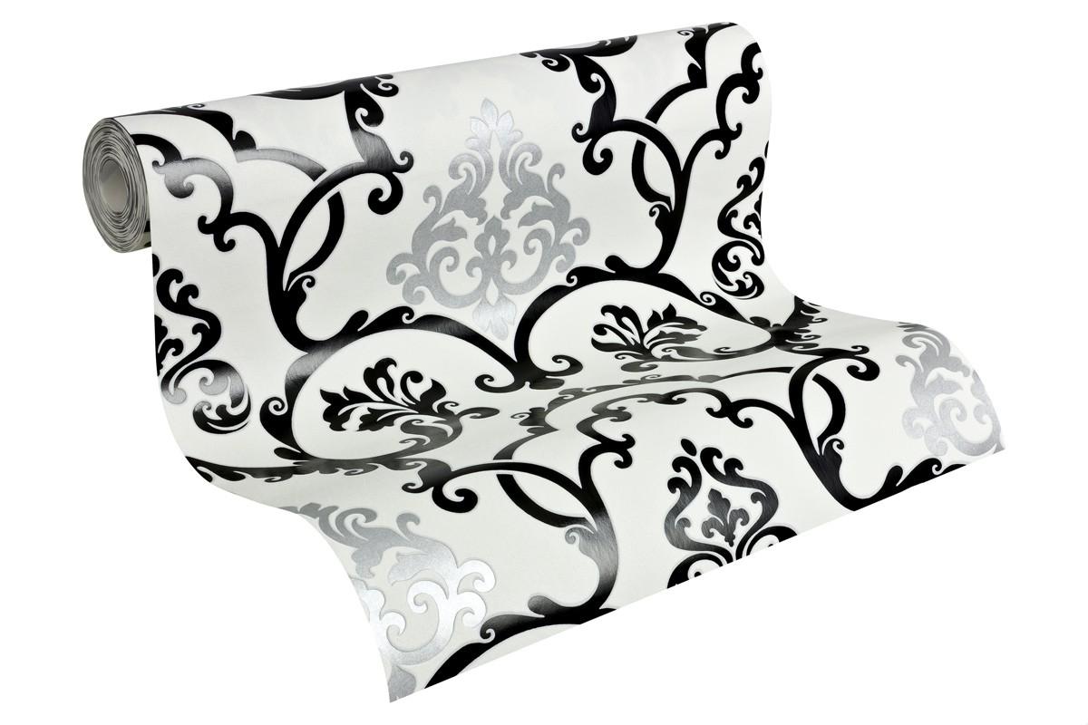 vliestapete barock schwarz wei livingwalls 95538 3. Black Bedroom Furniture Sets. Home Design Ideas