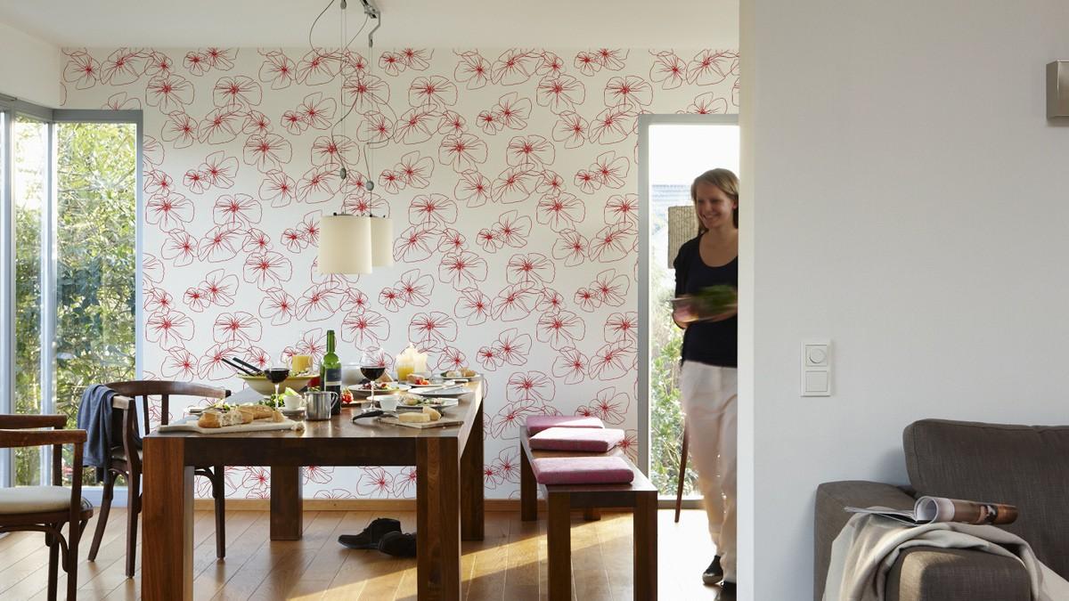 Wohnzimmer ideen rot weiß – sehremini