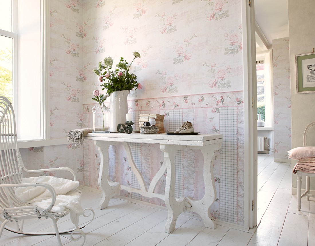 Shabby Chic Wohnzimmer Tapete ~ brimob.com for .