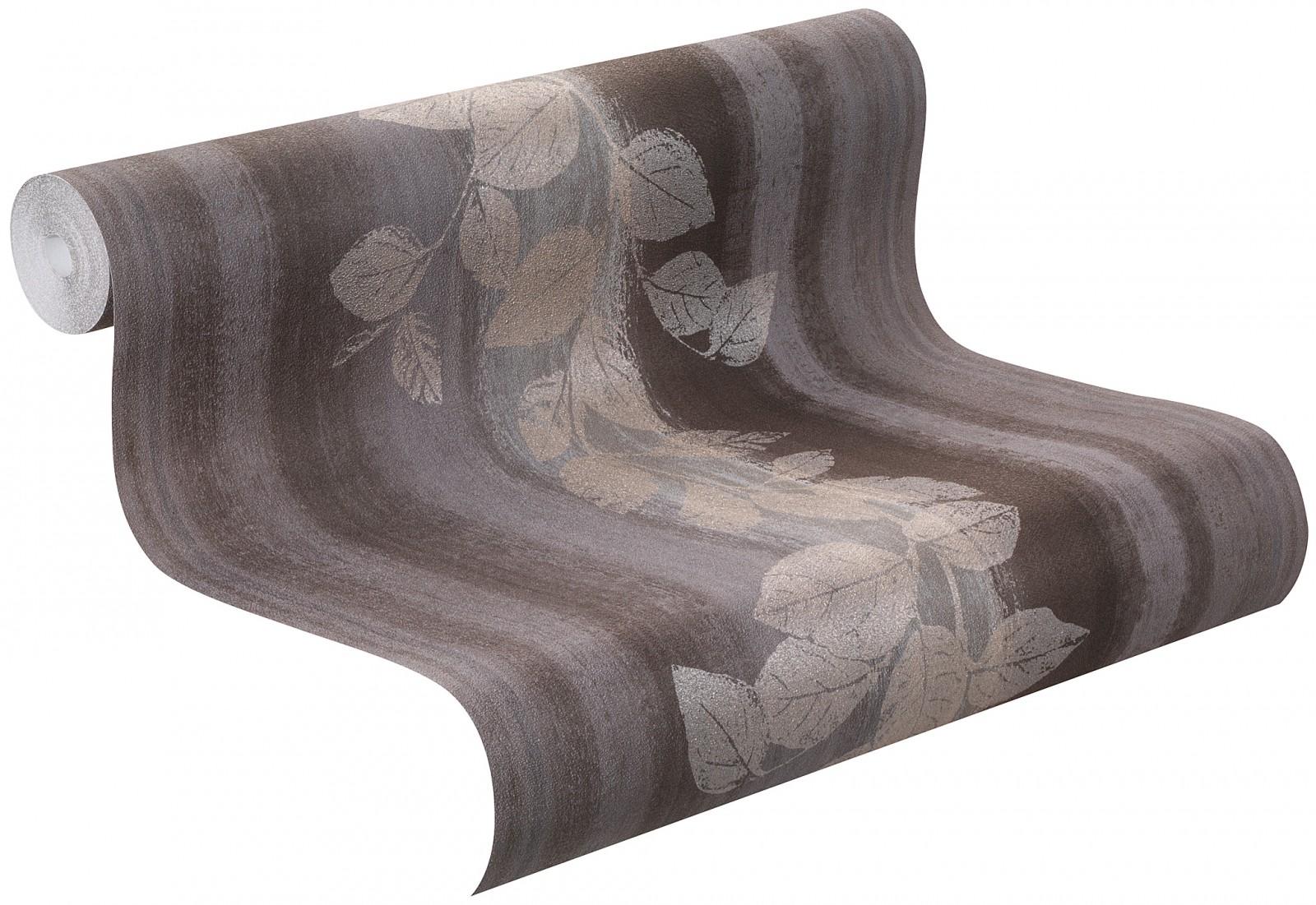 vliestapete blume floral grau braun fiducia tapete rasch. Black Bedroom Furniture Sets. Home Design Ideas