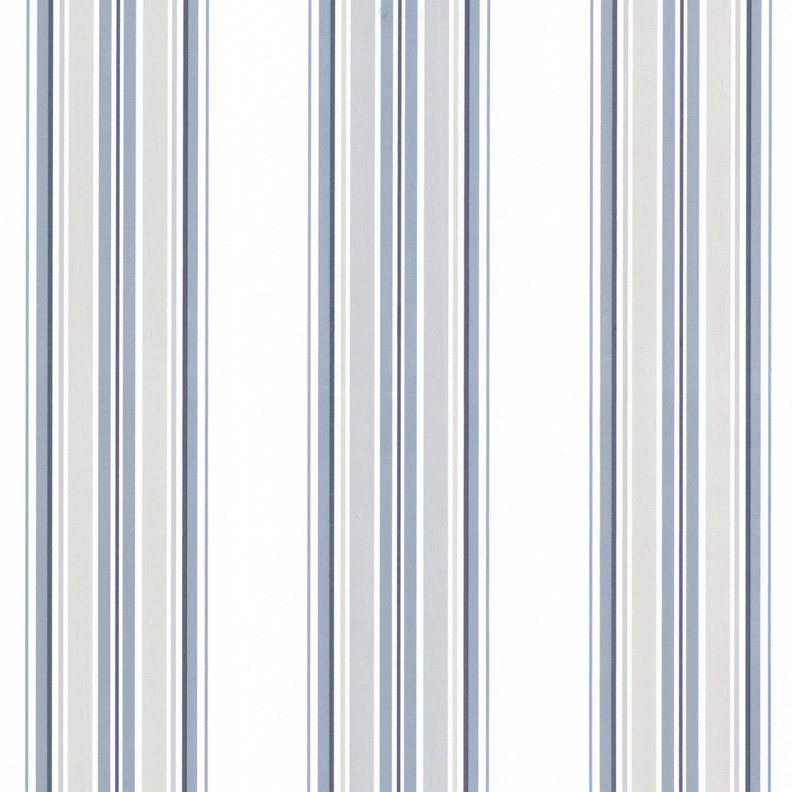 vliestapete streifen wei blau grau tapeten rasch textil. Black Bedroom Furniture Sets. Home Design Ideas