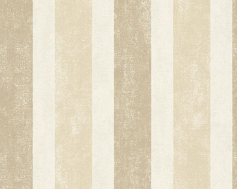 Tapete sch ner wohnen beige braun streifen 958672 for Tapete muster braun