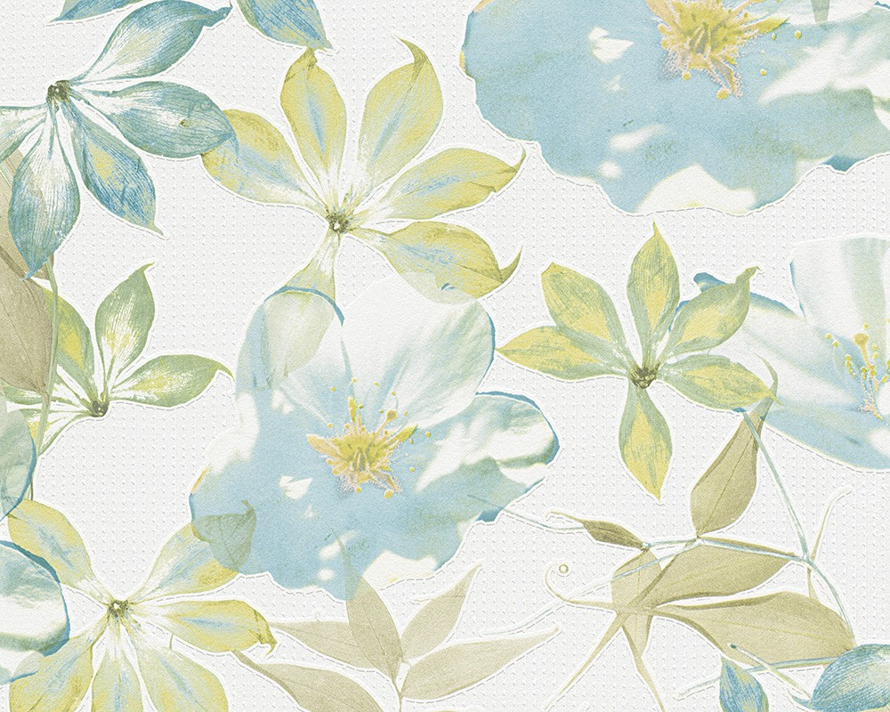 Vliestapete esprit home blau bunt blumen 958251 for Esprit home wallpaper 2012