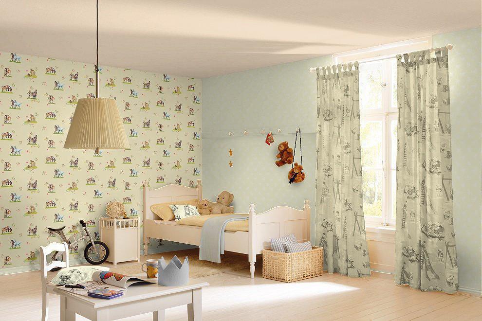 tapete gelb pferde villa coppenrath rasch 290509. Black Bedroom Furniture Sets. Home Design Ideas