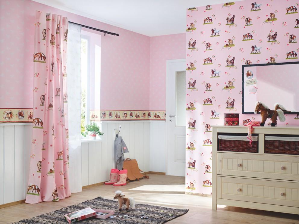 Borte rosa pferde villa coppenrath rasch 290813 - Pferde tapete kinderzimmer ...