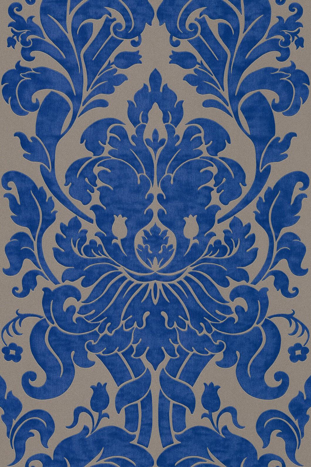 Tapete Blau Muster : vliestapete braun blau barock en suite rasch 546415 ~ Watch28wear.com Haus und Dekorationen