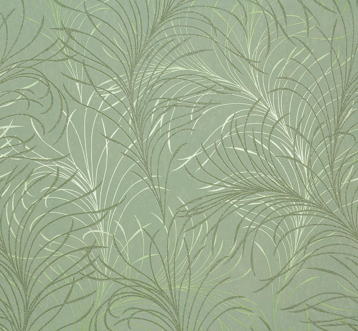 Vliestapete gr n beige natur estelle marburg 55714 for Marburg tapeten